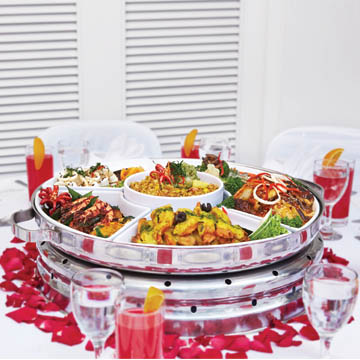 dome set dinner catering services